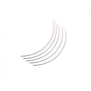 Ресницы AISULU одинарн. сортиров. на планшетке от 8-14 мм A-481D (красные)