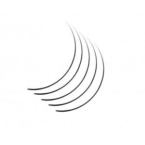 Ресницы №1603 один/шелковые, C/0,15 мм/10 мм (в 16 рядов) AISULU Silk Lash