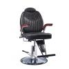 B-1009 Кресло парикмахерское с откидной спинкой (черное, паутина)