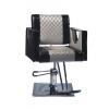 JH-8641 Кресло парикмахерское (черно-серое, квадрат)