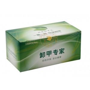 Салфетки для снятия геля одноразовые YI SI YI BAO (100 шт.)