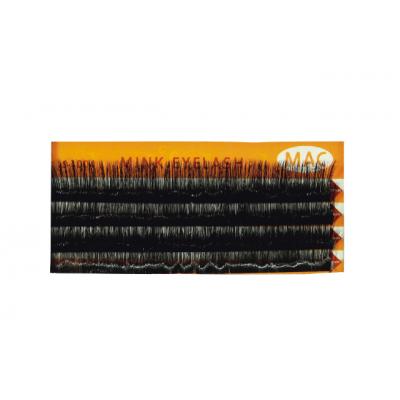 Ресницы МАС одинарные норковые на планшете 12 мм толщина 0,11 мм S-1004