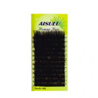 Ресницы AISULU одинарн. сортиров. 8-14 мм A-481D зел