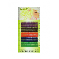 Ресницы цветные декоративные, 10 мм на планшетке толщина 0,15 мм A-484