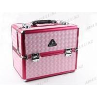 Кейс DY 2652 R (ср) для визажиста (3D розовый), Gladking