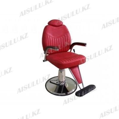 B-1009 Кресло парикмахерское с откидной спинкой (красное,