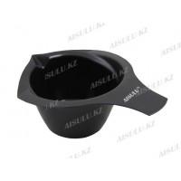 Чаша для краски № 606 пласт. с ручкой и носиком 300 мл (черная) AISULU