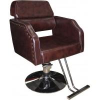 JH-8675 Кресло парикмахерское (коричневое, гладкое)