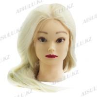 Болванка учебная для парикмахера №052 светлая (искусственная), Aisulu