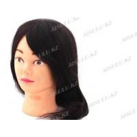 Болванка учебная для парикмахера №055 темная (100% натуральная), AISULU
