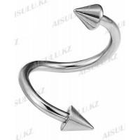 Серьги для пирсинга (спираль-конус)