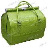 Кейс-сумка №0911 кожзам (зеленый крокодил глянцевый)