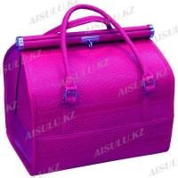Кейс-сумка №0911 кожзам (фиолетовый крокодил глянцевый)