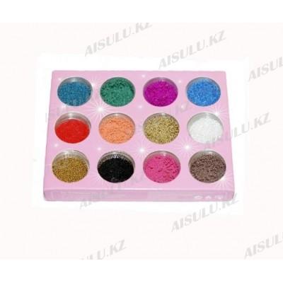 Бульонки для ногтей (цветные) 12шт в 1
