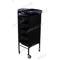 F-021 F Помощник-тележка парикмахерская металл AISULU (черная)