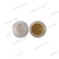 Бульонки для ногтей (серебро + золото) 1 шт х 180 тг.