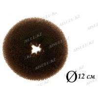 Валик для объема волос Q-65 темно-коричневый Ø 12 см AISULU (ср)
