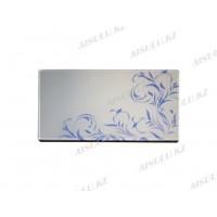 Подставка для клея ресниц двухстор. (стеклянная) 4,5 х 9 см