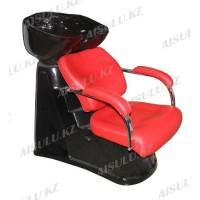 S-6021 Мойка парикмахерская с креслом (красная, гладкая)