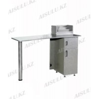NE-25 Стол маникюрный (серебро, глянец)