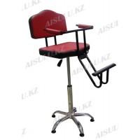 B-114 Кресло парикмахерское детское (красно-черное, гладкое)