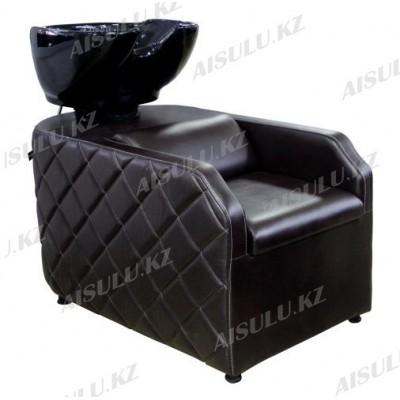 AS-007 Мойка парикмахерская с креслом (темно-коричневая)
