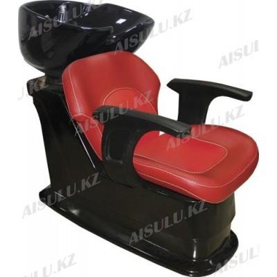 S-6048 B Мойка парикмахерская с креслом (красная,