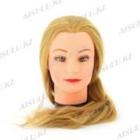 Болванка учебная для парикмахера ТМ-002 исскуст. волосы 60 см (блондинка)