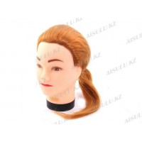 Болванка учебная для парикмахера искусствен. TM-03 (рыжая)
