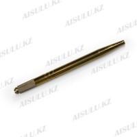 Ручка для микроблейдинга и ручного татуажа одностор., металлич. (трубка)