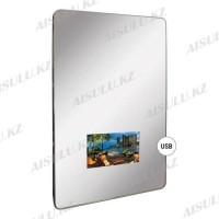 YC-E4058 Зеркало навесное, скругленные углы, встроенный LED-дисплей