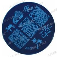 Трафарет для стемпинга JQ пластик. круглый 5,5 см