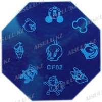 Трафарет для стемпинга QA пластик. восьмиугольный
