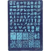 Трафарет для стемпинга пластик. S 21 х 14,5 см