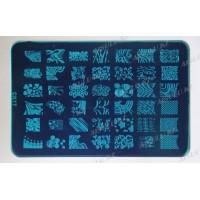 Трафарет для стемпинга пластик. FX 14,5 х 9,5 см