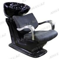 S-6176 Мойка парикмахерская с креслом (черная, матовая)