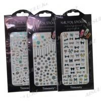Стикеры фольга для ногтей Tiebeauty MD-409 16 х 8 см/ 0,15 (в черн уп)