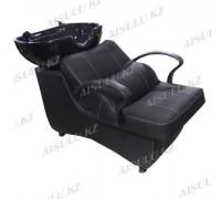 AS-006 Мойка парикмахерская с креслом (черная,