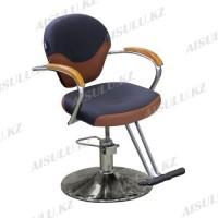 JH-8176 Кресло парикмахерское (коричневое комбинир светл/темн, гладкое)