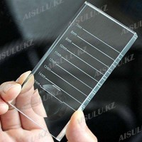 Подставка для клея ресниц A-801 квадрат.4,5 х 9,5 см с размет. и выемкой (стекл)