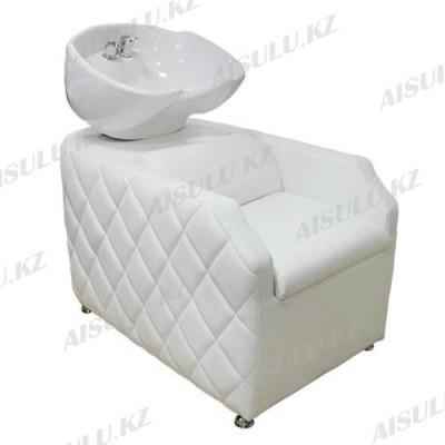 AS-007 Мойка парикмахерская с креслом (белая,
