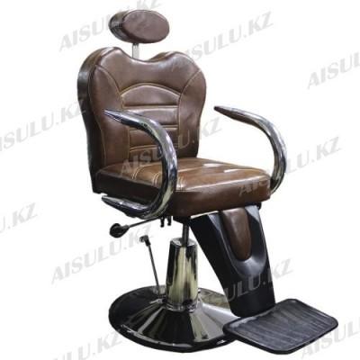 B-1040 Кресло парикмахерское (коричневое, гладкое)