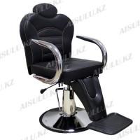 B-1040 Кресло парикмахерское (черное, гладкое)