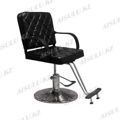 AS-8858 Кресло парикмахерское (черное, гладкое)
