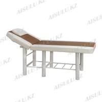 JH-6012 Кушетка массажная (бело-коричневая, гладкая)