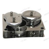 Набор посуды для ликвида металлич. 3 в 1