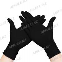 Перчатки нитриловые черные L (10 пар)