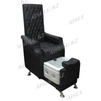 AS-9777 Кресло педикюрное c ванночкой (черное, гладкое)