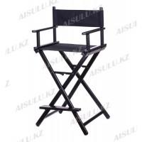 Кресло для визажиста алюминиевое/разбирающ./высота 90 см (черное)