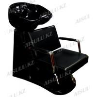 S-6050 Мойка парикмахерская с креслом (черная,